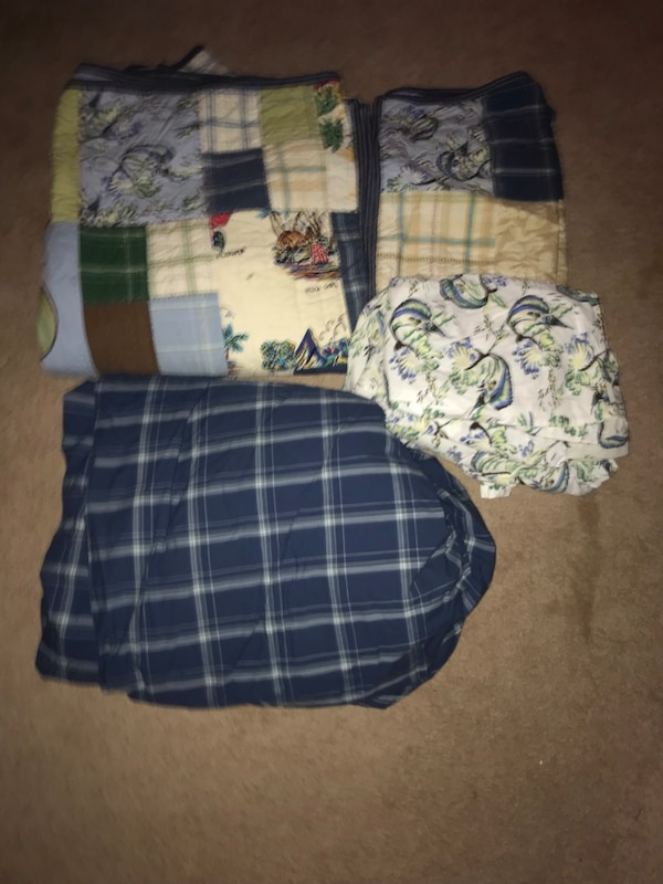 Used Pottery Barn Kids Coastal Collection Bedding Set 8