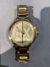 Classic Gold Armani Exchange Mens Watch For Sale!