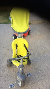 children's green and gray tandem trike Calgary, T1Y 2A6