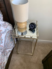 Square Gold Side Table Falls Church, 22042
