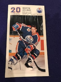 Autographed Martin Gelinas Picture