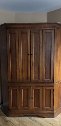 Brown wooden 4-door wardrobe Easton, 18040