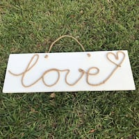 Love sign on wood wall decoration Davenport, 33896