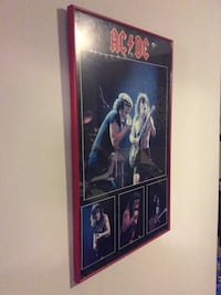 AC DC poster in red frame