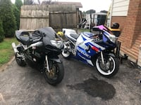 Both 2001 GSX-R600 Suzuki sports bike willing to trade for truck and plow Simcoe, N3Y 4X2