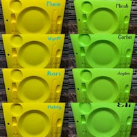 """Kids """"picnic"""" trays with name in vinyl (ONLY 5 LEFT!) St Catharines, L2R 6H2"""