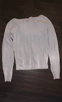 White nike pull over sweater in size SMALL
