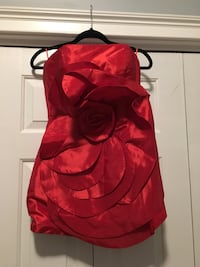 One of a kind hand-made strapless short red dress. Size: S. Lace-up in the back. New!! Charleston, 29455