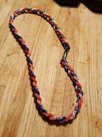 Phiten Red, White and  Blue Necklace 53 km