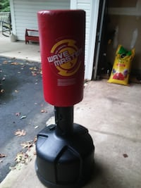 red and black Wave Master free standing heavy bag Manassas