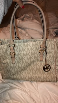 monogrammed gray Michael Kors leather tote bag Cedar Park, 78613