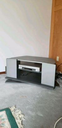 black and white wooden TV stand Calgary, T1Y 6N8