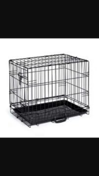 black steel collapsible pet cage Sacramento, 95838
