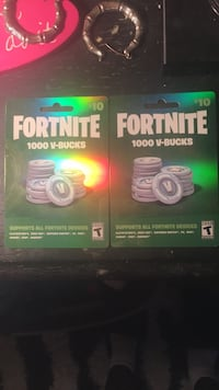 1000vbucks per card Fortnite game cards