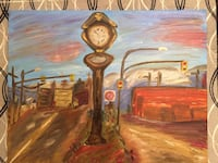 "Oil painting ""Time stands still"" Mt. Pleasant vintage"
