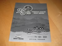 2001 Canadian Country Music Awards Official Program Calgary