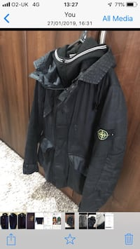 Stone island wax double layered jacket with Dutch rope system. Size large  Heywood, OL10 4JX