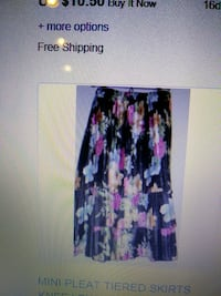 women's black and multicolored floral skirt
