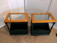 Two glass-top end tables Chesapeake, 23325
