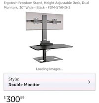 Adjustable standing desk w/dual monitor holders Olney
