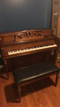 brown wooden upright piano with chair Stockertown, 18040