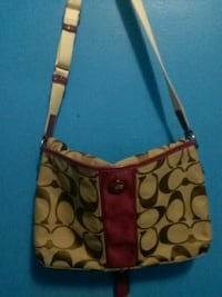 brown and black Coach monogram crossbody bag Winnipeg, R2V