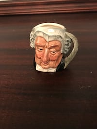 "Royal Doulton Toby Jug The Lawyer Small Size 2.5"" Excellent Condition Cocoa, 32922"
