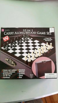 black and gray chess board game box