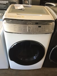 white and black front-load clothes washer Farmers Branch, 75234