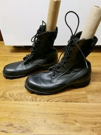 $3.00  Size 8W Rothco Black combat Boots Council Bluffs, 51501
