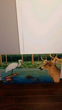 One of a kind painting on wood panel Brampton, L6S 1V1
