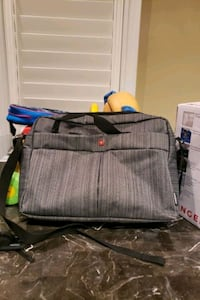 gray and black leather handbag Markham, L3P