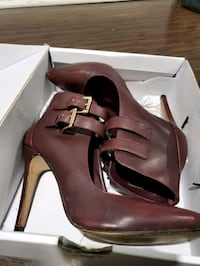 Aldo Burgundy leather heels Brampton