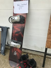 brown and gray snowboard