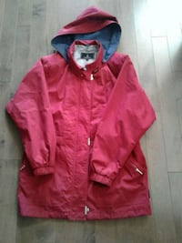 Red London fog fall jacket with hood Kitchener, N2K 4J7