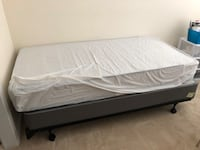 Twin bed set. Frame, mattress and box Raleigh, 27603