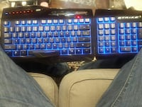 black Strike gaming keyboard