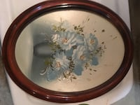 round brown wooden framed painting of flowers Daly City, 94015