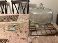Cake holder and glass lazy Susan  London, N5X 3W2