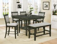 Grey Dining Set with Lazy Susan Fort Myers, 33907