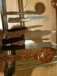 four brown and black handled knives Helotes, 78023