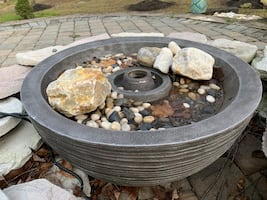 "Water fountain  plus small ""Fire pit"""