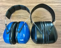 2 Peltor hearing protection muffs