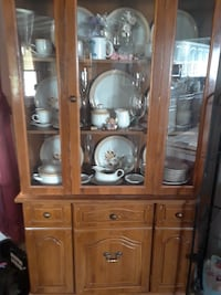 China cabinet Hutch   with dishes EVANSVILLE