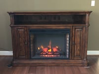 brown and black electric fireplace Upper Marlboro, 20774