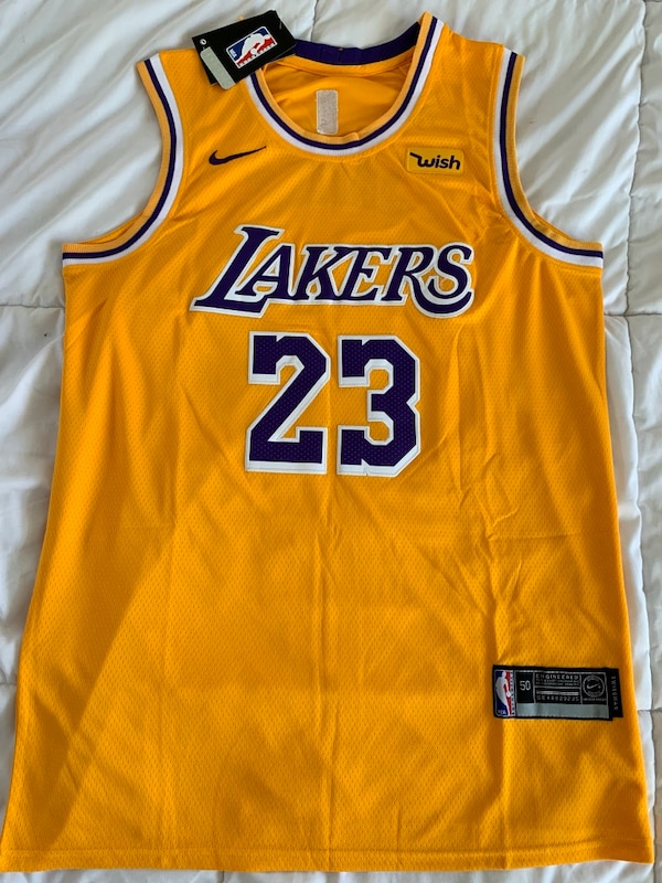 best loved a2dc5 17ed8 Lebron James Los Angeles Lakers Basketball Jersey Large