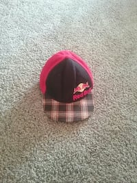pink and black Red Bull snapback cap