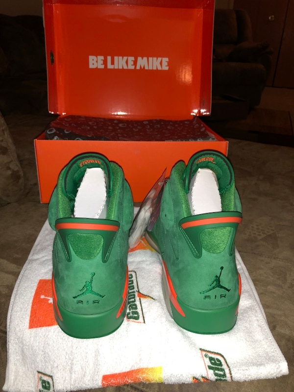 069ae51a423d Used Jordan 6 Gatorade NGR size 13 for sale in Southfield - letgo