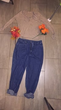 Blue jeans-$15 top-$10. All together-$25 Guelph, N1L