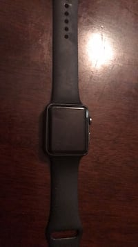 black Apple Watch with black sports band Port Tobacco, 20677